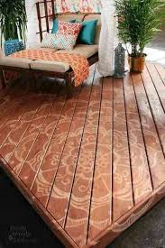 stencil your deck floor for the porch and patio pinterest