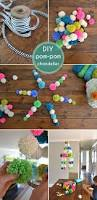 Homemade Pom Pom Decorations Diy Pom Pom Garlands For Christmas Pretty Designs
