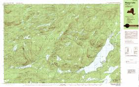 Lake Placid New York Map by Piseco Lake Topographic Map Ny Usgs Topo Quad 43074d5