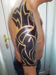 black ink tribal half sleeve tattoo for men tattoos tribal