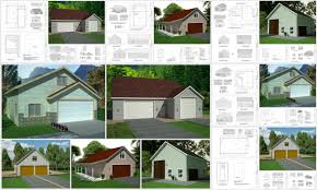 Garage Plans With Living Space Instant Garage Plans With Apartments