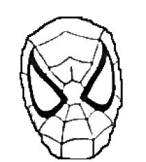 spider man stencil images reverse
