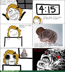 Shadowlurker Meme - i don t like sleeping anyways rage comics rage comics
