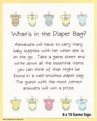 what u0027s in the diaper bag baby shower game stock the