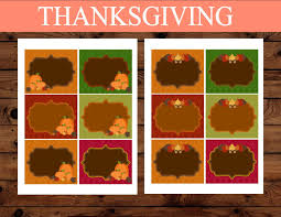 thanksgiving food labels holidays sukkot favor tags pumpkin