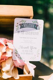 Cute Wedding Programs Romantic Culture Embracing Wedding