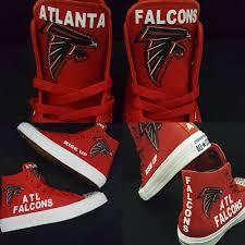 bling nfl shoes custom atlanta falcons football converse