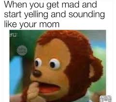 Mad Mom Meme - when you get mad and start yelling and sounding like your mom i