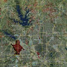 Dallas Area Map Dallas Fort Worth Expanded Rolled Aerial Map Landiscor