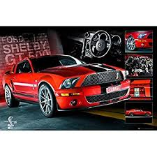 mustang size amazon com ford mustang poster shelby gt500 cobra easton
