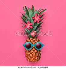 fashion pineapple pink air balloon bright stock photo 663224704