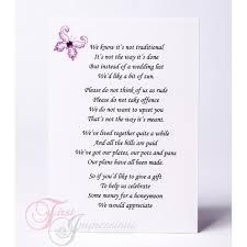 wedding gift list poems wedding invitation wording gifts wording for wedding invitations