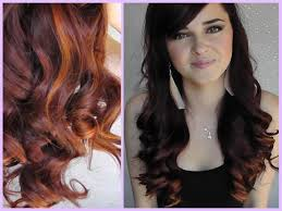 diy highlights for dark brown hair copper brown hair color with highlights natural red balayage rose