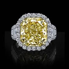 canary yellow engagement ring internally flawless 10 carat canary yellow