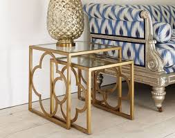 Quatrefoil Side Table Steel Accent Side Tables For Living Room Trends4us