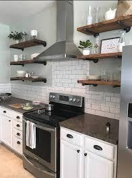 kitchenshelves com open kitchen shelves industrial pipe shelving farmhouse open