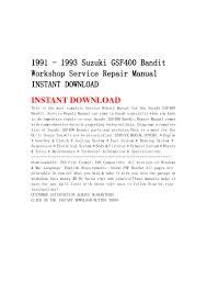 1991 1993 suzuki gsf400 bandit workshop service repair manual insta u2026