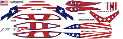 lacrosse decals with patriot design from laxdecalz by decalguyz