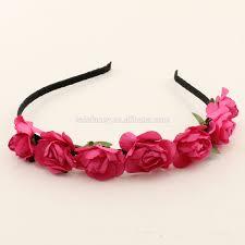decorative headbands new 2 boho flower headbands floral crown blue pink purple