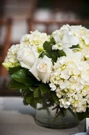 White Roses Centerpieces by White Hydrangea Centerpieces With Accents Of Mini Green Hydrangea