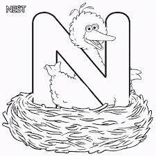 the stylish and stunning letter n coloring page to encourage in