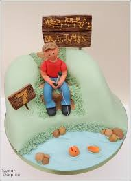 30 best fishing cakes images on pinterest fishing cakes