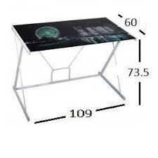 plateau de bureau en verre sérigraphié bureaux meubles et rangements bureau empire avec plateau en verre