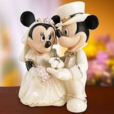 mickey and minnie cake topper minnie s wedding cake topper findgift