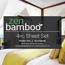 Zen Bedding Sets Zen Bamboo Luxury 1500 Series Bed Sheets Eco