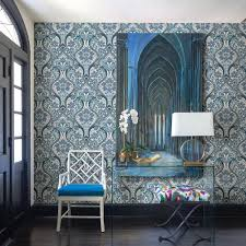 a street 56 4 sq ft night bloom blue damask wallpaper 2763 12102