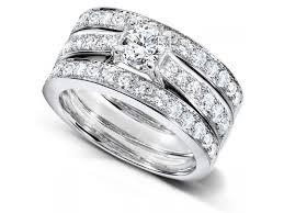 wedding ring trio sets 2 carats trio wedding ring set jewelocean