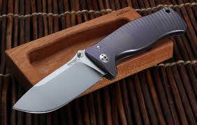 titanium kitchen knives lionsteel sr1 purple anodized integral titanium folder free shipping
