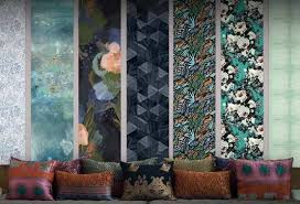 Wallpaper Interiors By Artists Free Samples Ship FEATHR - Wall paper interior design