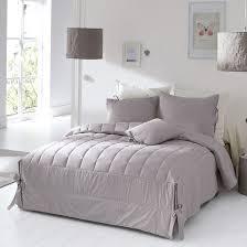couvre si e couvre lit matelassé finition nouettes aimea gris la redoute