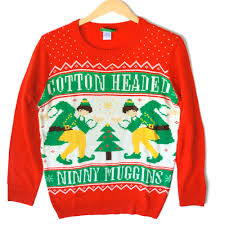 cotton headed ninny muggins tacky ugly christmas sweater from elf