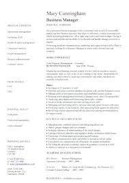 sample resume for business manager customize this resume business