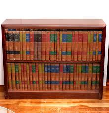 Wooden Bookshelf Encyclopedia Britannica Great Books