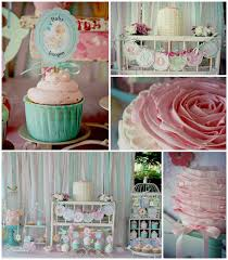 shabby chic baby shower ideas girl baby showers kara s party ideas