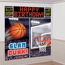 amazon com amscan basketball dream birthday party scene setters
