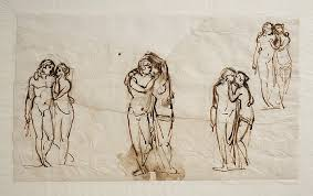 figure drawing bertel thorvaldsen cupid and psyche