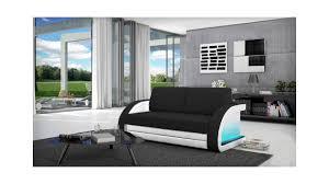 canapé convertible noir et blanc canapé convertible en lit canapé lumineux collection mirco