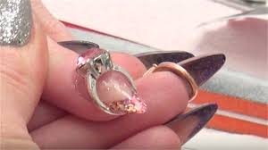 how to apply a nail ring to acrylic nails technique nails magazine