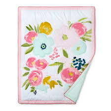 Target Crib Bedding Sets Crib Bedding Set Floral Fields 4pc Cloud Island Pink Mint