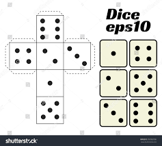 dice set vector illustration printable template stock vector