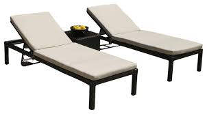 Lounge Chair Outdoor 3 Piece Outdoor Wicker All Weather Lounge Chair Set Contemporary