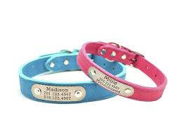 personalized customized leather nameplate collars