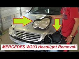 mercedes light replacement mercedes w203 headlight removal and replacement c160 c180 c200