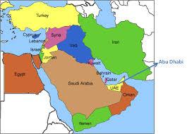 arab map united arab emirates map middle east