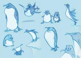 jess morris animator penguin sketch
