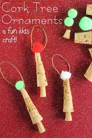handmade ornaments easy cork ornaments